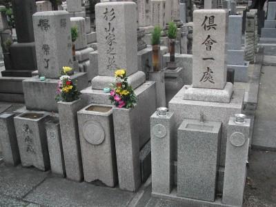 墓石の磨き直し